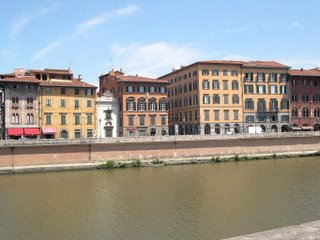 Houses on the Arno in Pisa