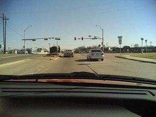 Approaching traffic lights