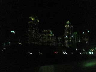 Dallas at night. Possibly during an earthquake