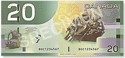 canadian 20 dollar bill