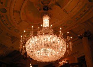 Hotel chandelier