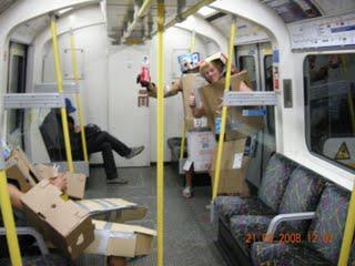 Cardboard Robots on Underground