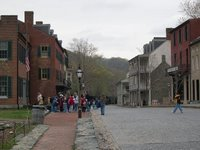 Typical Harpers Ferry Scene: Band of roving school children
