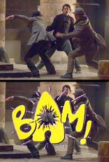 Sherlock Holmes Batman Fight